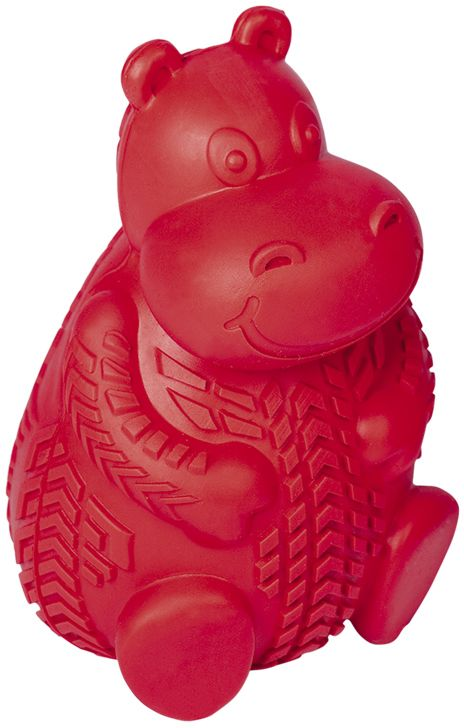 Nobby silná gumová hračka na pamlsky hroch 12cm