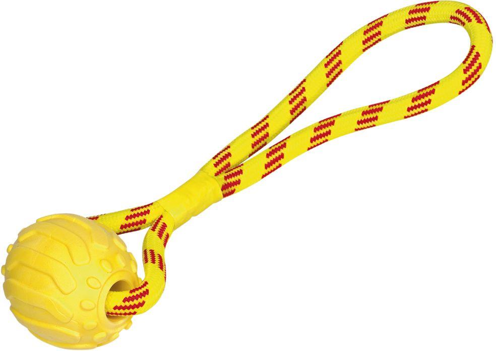 Nobby hračka pro psy přetahovací TRP míč s lanem 11,5cm