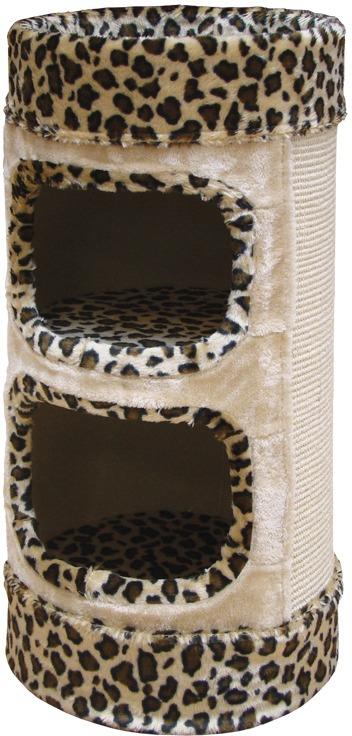 Nobby LITTLE LAZY škrábací válec pro kočky leopardí vzor 72cm