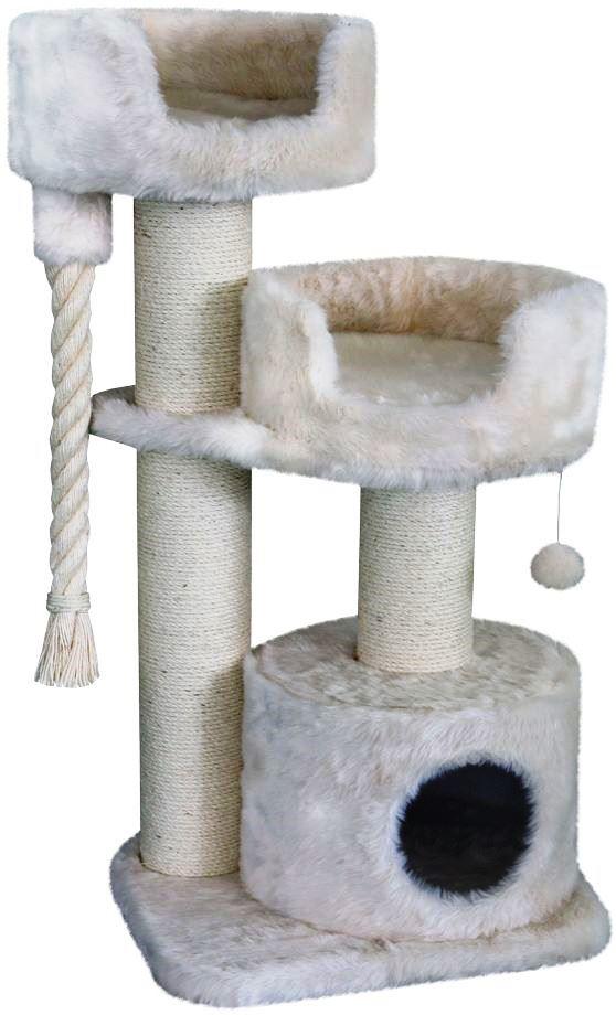 Nobby Cadiz škrabadlo pro kočky krémová dlouhý plyš 111cm