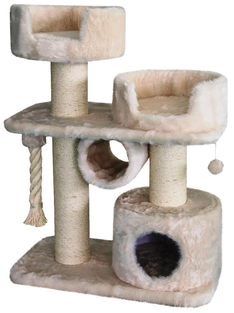 Nobby Ancona škrabadlo pro kočky krémová dlouhý plyš 107cm
