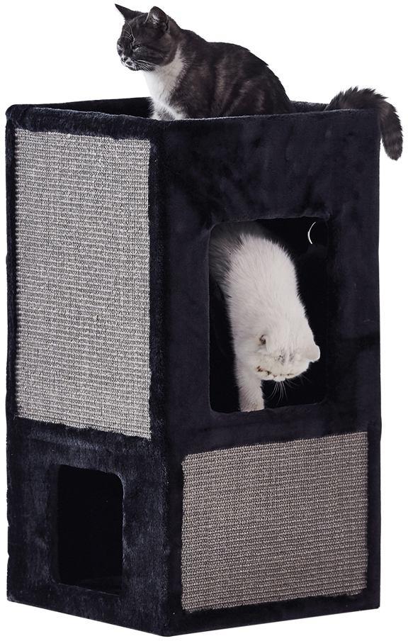 Nobby Dea patrová škrábací věž s jeskyní černá 100cm