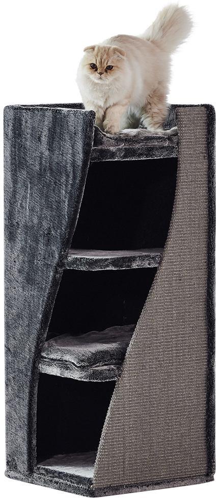 Nobby Kari L patrová škrábací věž s jeskyní černá 100cm