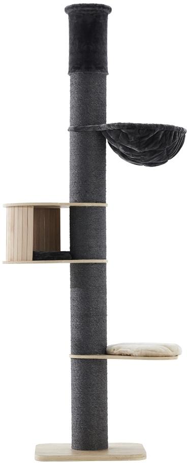 Nobby výškově nastavitelné škrabadlo Halim pro kočky 220-250cm tmavě šedá