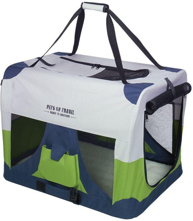 Nobby Traveller M Fashion nylonový box kennelka pro psy 60x42x42cm