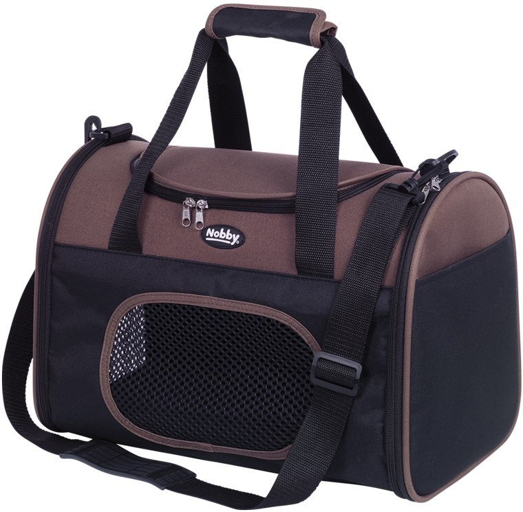 Nobby přepravní taška TOTO do 8kg hnědá 41 x 25 x 30 cm