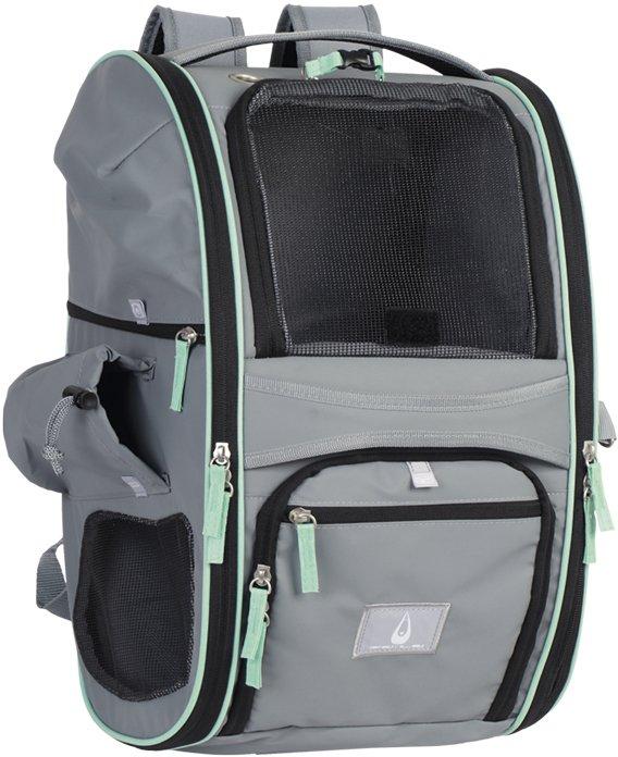 Nobby multifunkční batoh NOMAD pro kočky a psy do 6kg 45x26x27cm šedý