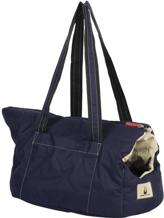 Nobby přepravní taška a pelíšek FLUFFY pro psy do 6kg námořnická modř 48x33x31cm