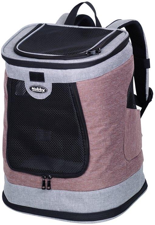 Nobby batoh na záda PLATA do 10kg růžovo-šedá 34x30x43cm