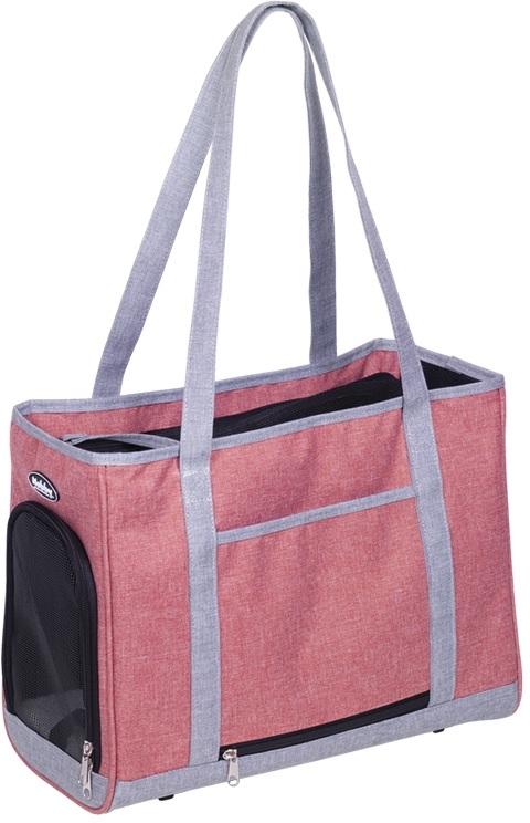 Nobby přepravní taška TOMMA starorůžová šedá 40x22x28cm