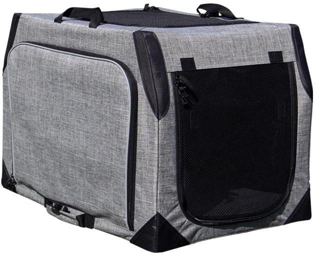Nobby multifunkční nylonový box L kennelka EXTEND do 25 kg šedá