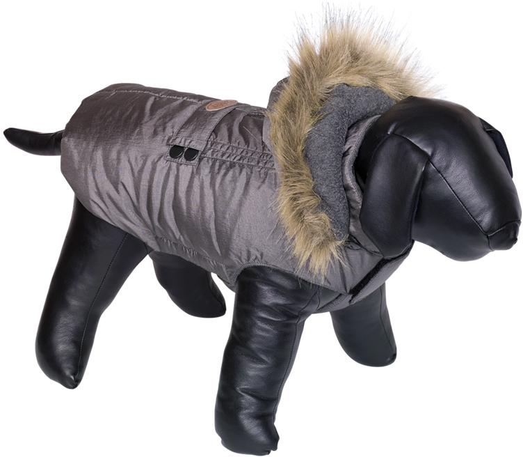 Nobby obleček pro psa LIAM s kožíškem šedá 20cm