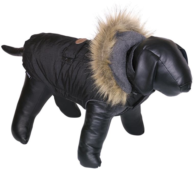 Nobby obleček pro psa LIAM s kožíškem černá 20cm