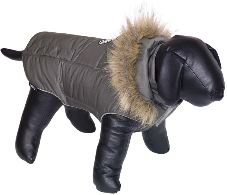 Nobby bunda pro psa ELNA s kožíškem šedá 20cm