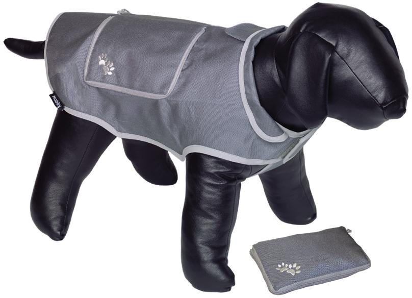 Nobby reflexní nepromokavá vesta BANAT pro psa 20cm šedá