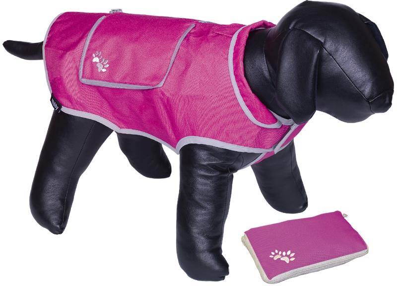 Nobby reflexní nepromokavá vesta BANAT pro psa 20cm růžová
