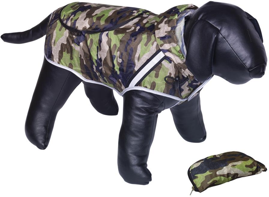 Nobby Rainy maskáčová reflexní pláštěnka pro psa 20cm