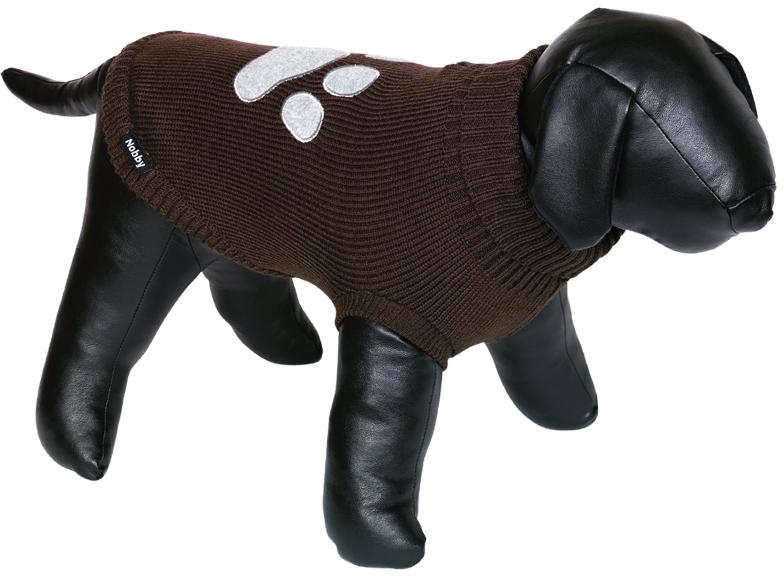 Nobby psí svetr PATI s tlapkou hnědá 20cm