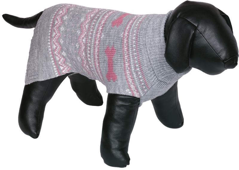 Nobby psí svetr MUNDO růžová zimní vzor 20cm