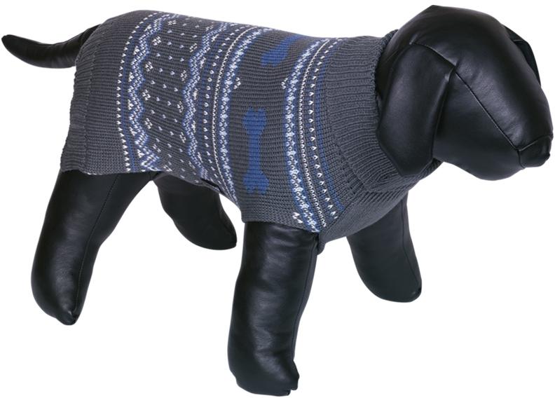 Nobby psí svetr MUNDO modrá zimní vzor 20cm