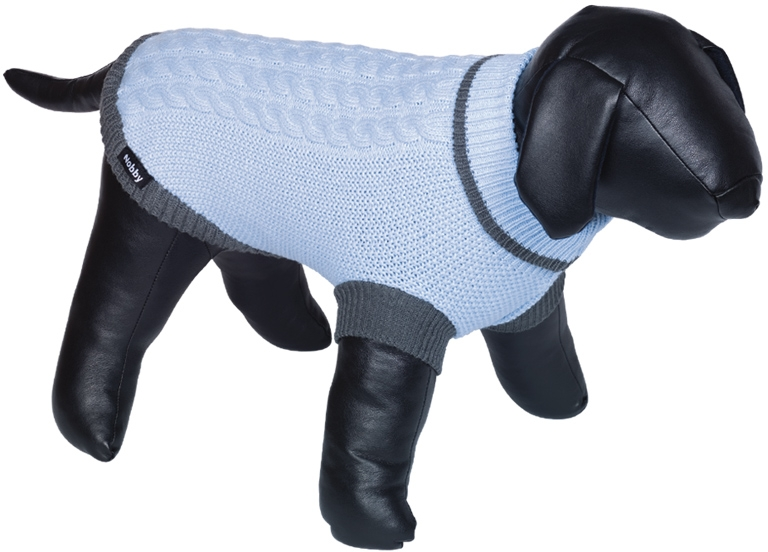 Nobby psí svetr BERAK modrá pletený vzor 20cm