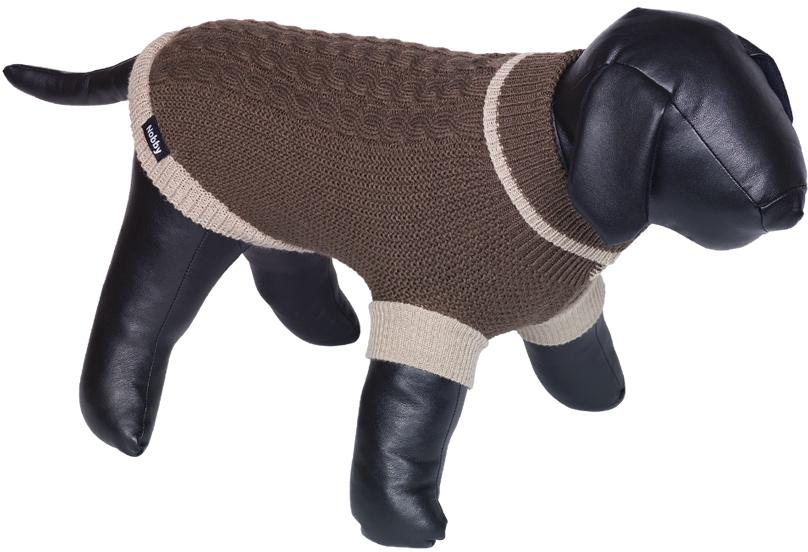 Nobby psí svetr BERAK hnědá pletený vzor 20cm
