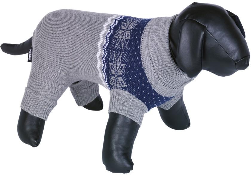 Nobby ADO svetr pro psy s nohavičky šedá 20cm