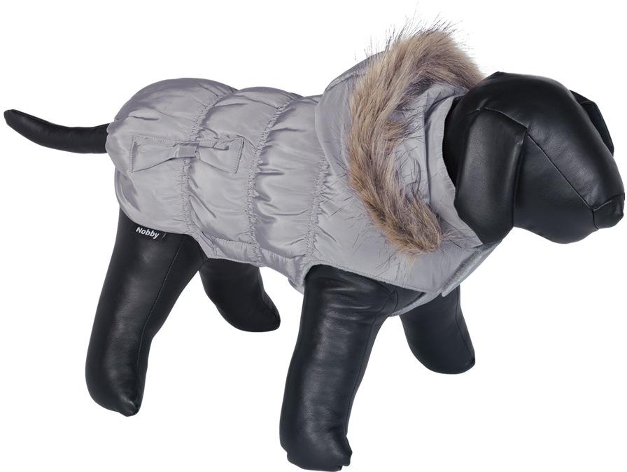 Nobby DAIKI obleček pro psa šedá s kožíškem 20cm
