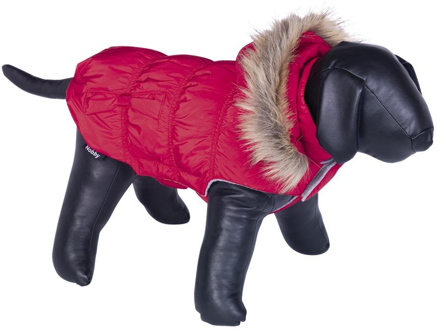 Nobby DAIKI obleček pro psa červená s kožíškem 20cm