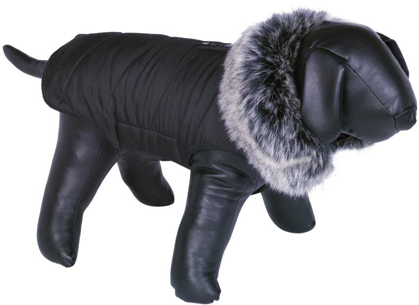 Nobby ADUA obleček pro psa černá s kožíškem 26cm
