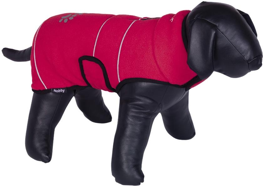 Nobby TENIA fleece reflexní mikina pro psa červená 26cm