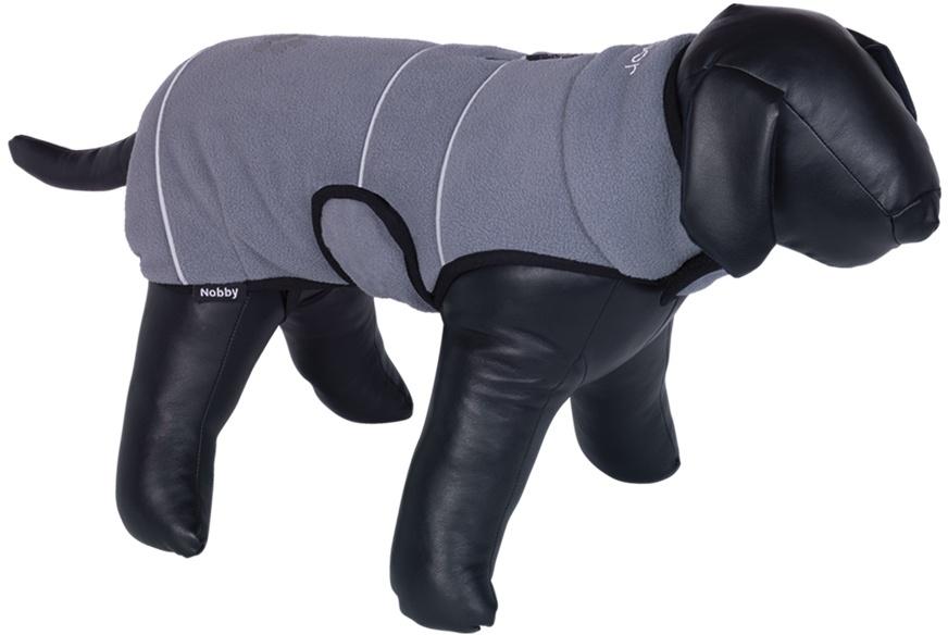 Nobby TENIA fleece reflexní mikina pro psa šedá 26cm