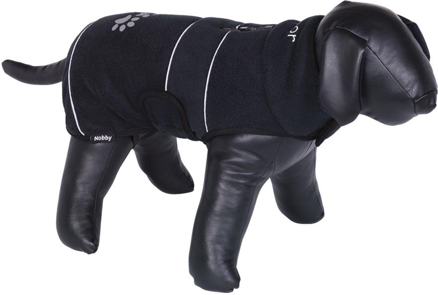 Nobby TENIA fleece reflexní mikina pro psa černá 26cm