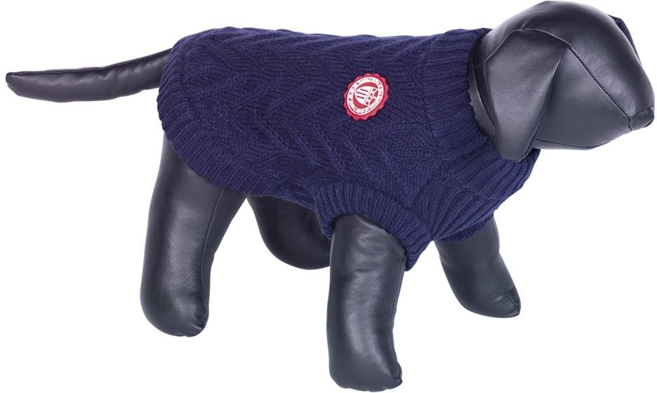 Nobby RICK pletený svetr pro psy modrá 20cm