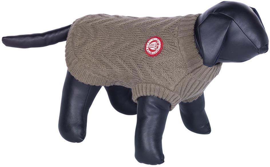 Nobby RICK pletený svetr pro psy hnědá 20cm