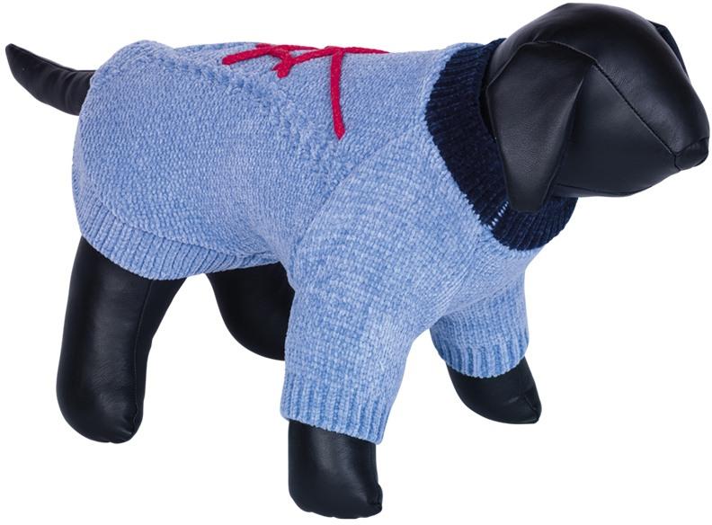 Nobby BANDA pletený svetr pro psy modrá 20cm