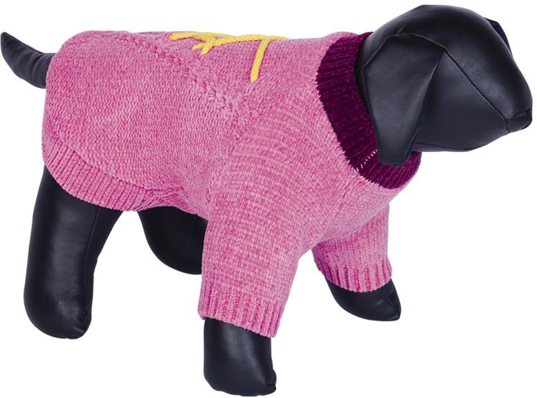 Nobby BANDA pletený svetr pro psy růžová 20cm