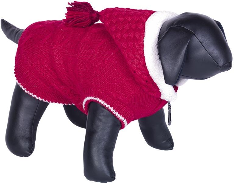 Nobby HILLA pletený teplý svetr pro psy červená 20cm