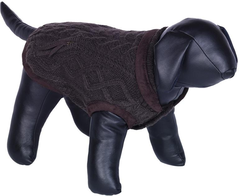 Nobby JILL pletený svetr pro psy hnědá 20cm