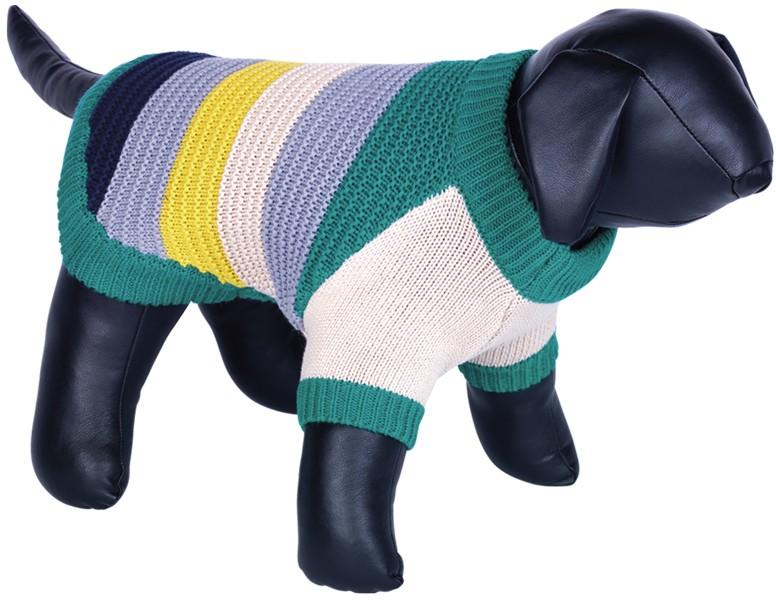 Nobby HAJO pletený svetr pro psy zelená 20cm