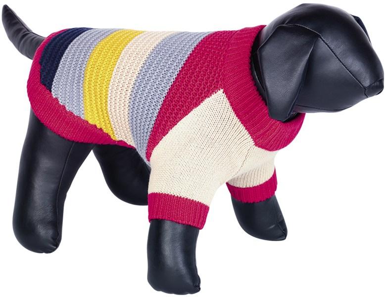 Nobby HAJO pletený svetr pro psy červená 20cm