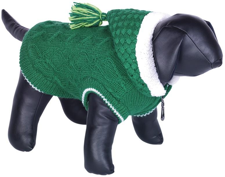 Nobby HILLA pletený teplý svetr pro psy zelená 48cm
