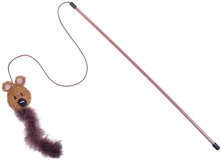 Nobby hračka pro kočky udice s medvídkem a peřím 50cm