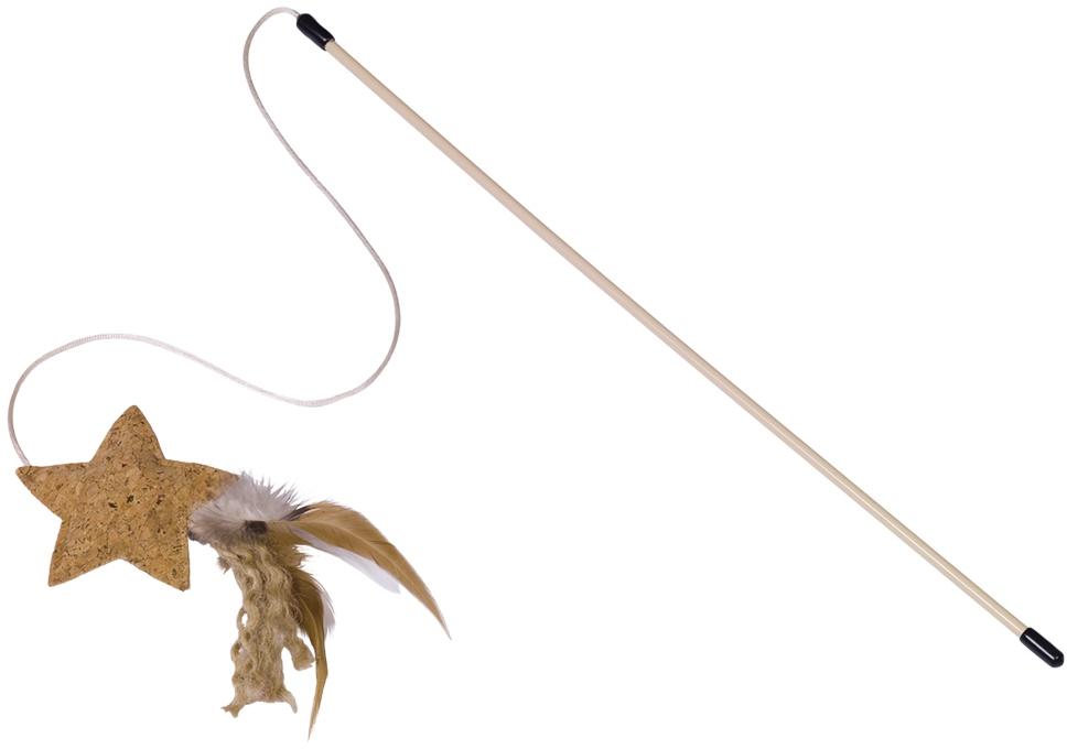 Nobby hračka pro kočky udice s korkovou hvězdou a catnipem 46cm