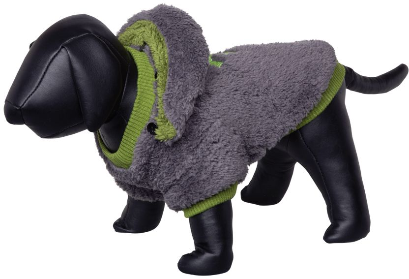Nobby Teddy oboustranná mikina pro psy s kapucí šedá 44cm