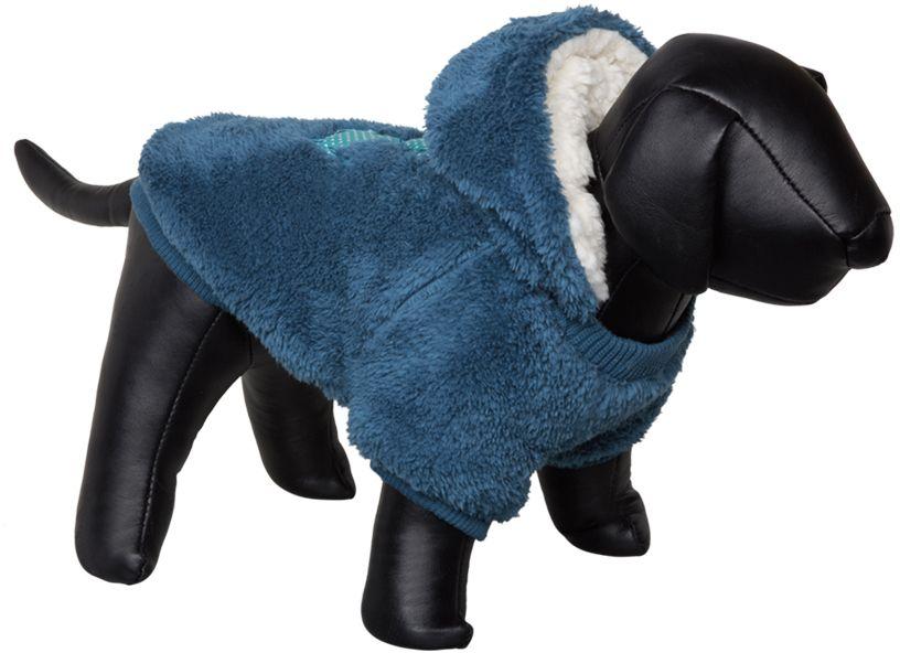 Nobby Teddy oboustranná mikina pro psy s kapucí modrá 26cm