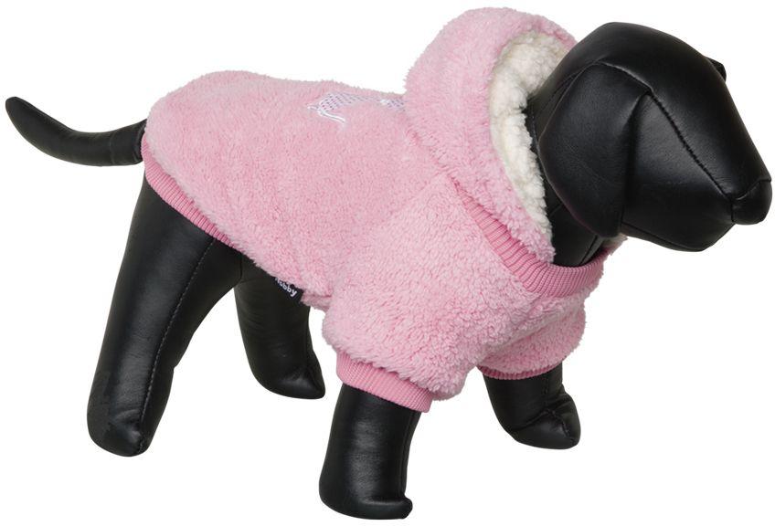 Nobby Teddy oboustranná mikina pro psy s kapucí růžová 44cm