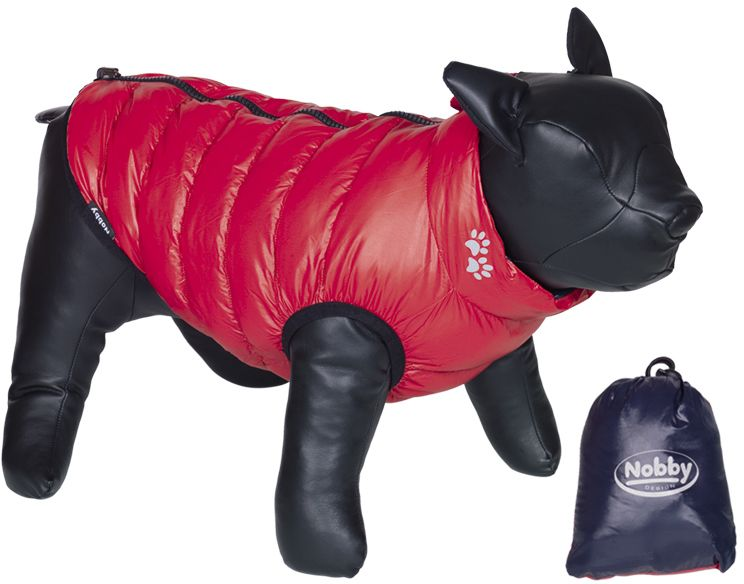 Nobby LIGHT vesta pro buldočka oboustranná modrá/červená L 37cm