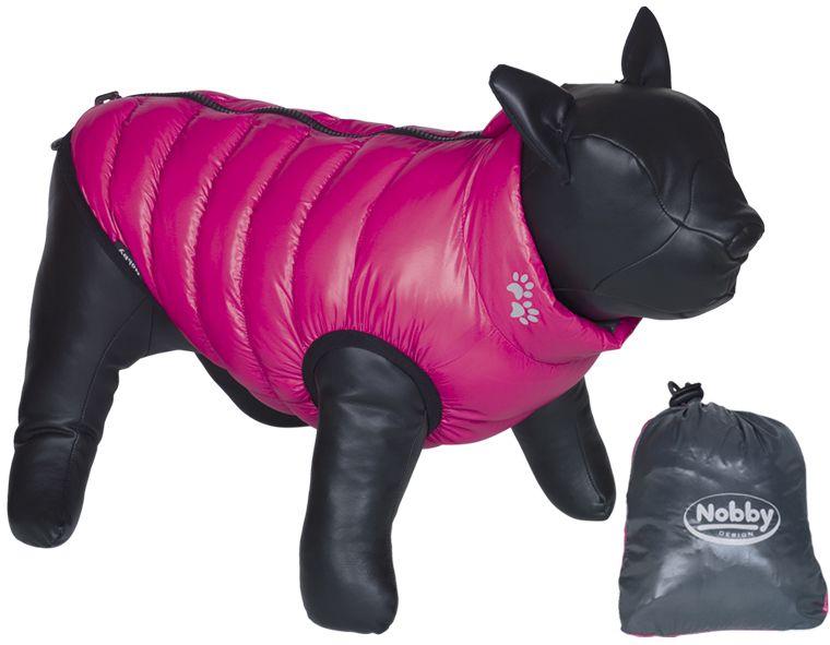 Nobby LIGHT vesta pro buldočka oboustranná šedá/růžová L 37cm