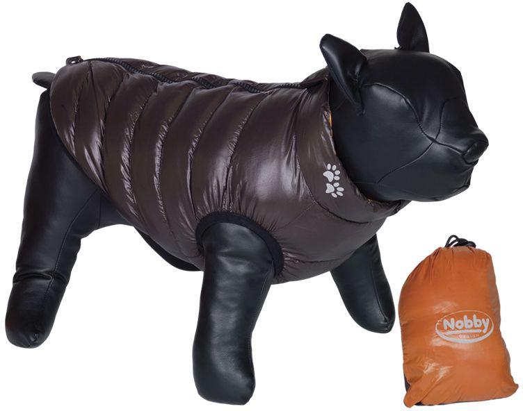 Nobby LIGHT vesta pro buldočka oboustranná oranžová/hnědá L 37cm